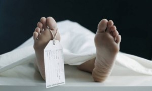 dead person's feet