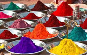 Coloured spices India