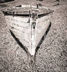 old grey boat