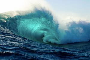 wave blue ocean